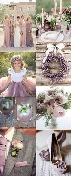 10 Colorful Wedding Ideas might be Motivating 08-Soft Purple In Country Wedding Idea