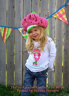 Ravelry free pattern. This is the best Strawberry Shortcake hat I've found so far. Beautiful! thank you for the free pattern :)