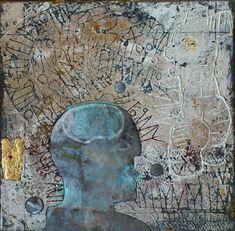 A-Muse-d  Gemengde techniek op linnen - 50 x 50 cm - 2013