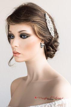 Crystal Silver Lion Earrings