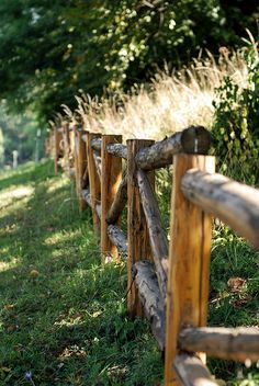 Wooden fence by thecodemaker, via Flickr Wooden fence by thecodemaker on Flickr Log Fence, Rustic Fence, Wooden Fence, Farm Fence, Rustic Wood, Gabion Fence, Fence Planters, Concrete Fence, Pallet Fence