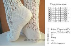Knitting Paterns, Fair Isle Knitting Patterns, Knitting Videos, Lace Knitting, Knitting Socks, Knitting Stitches, Lace Socks, Crochet Socks, Knit Or Crochet