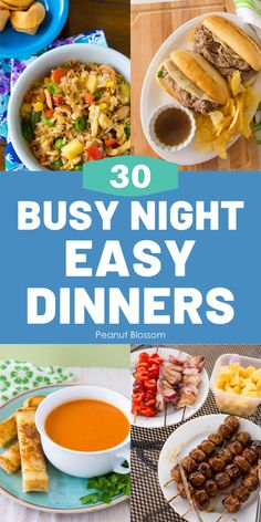 Feed your kids FAST! These 30  quick dinner ideas are perfect for busy families on the go. Skip the drive-thru and make one of these easy family dinners this week. Quick Family Dinners, Fast Dinners, Dinners For Kids, Family Meals, Kids Meals, Night Dinner Recipes, Dinner Ideas, Dinner This Week, Best Food Ever