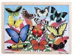 Melissa & Doug Butterfly Garden Wooden Jigsaw Puzzle (48 Pc)