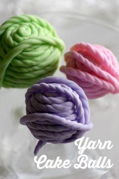 Fondant yarn cake ball tutorial | CatchMyParty.com