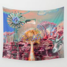 Wind Punk Quiver Heat Wall Tapestry by crismanart Wall Tapestries, Wall Hangings, Tapestry, Quiver, Tablecloths, Outdoor Walls, Hand Sewn, Vivid Colors, Favorite Color