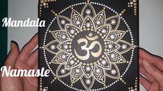 Como pintar mandalas con acrilicos #14 - Namaste
