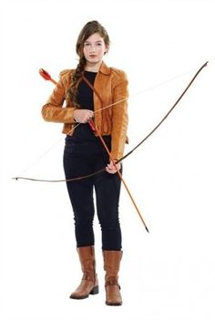 """A model dresses as Katniss from """"The Hunger Games"""" in this undated handout photo. THE CANADIAN PRESS/HO - Value Village"""