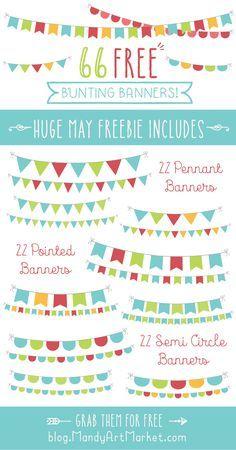 Free Printable Mini Birthday Bunting | Bunting banner, Birthdays ...