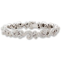 Pre-Owned Chanel White Gold and Diamond One of a Kind Bracelet Chanel Bracelet, Chanel Jewelry, Gold Jewelry, Jewelery, Diamond Jewelry, Jewelry Bracelets, White Gold Diamond Bracelet, White Gold Diamonds, Handcrafted Jewelry