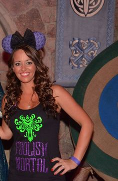 Foolish Mortal | Glitter Disney Shirt | Women's Racerback tank top