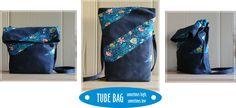 Colorful bag tube shaped.