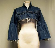 Deconstructed Reconstructed Levi Jacket by dinwiddies on Etsy