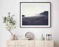 Beach Photography, Charcoal Gray Coastal Wall Art, Dreamy Landscape Print, Monochrome Neutral Living Beach Photography, Nature Photography, Sage Green Walls, Grey Wall Art, Winter Beach, Coastal Wall Art, Rustic Art, Beach Print, Landscape Prints
