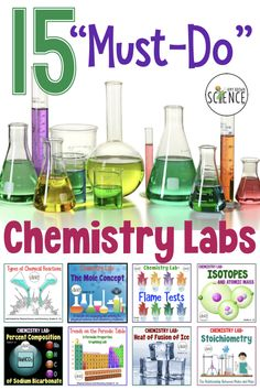 Great lab experiences are the key to a successful chemistry or physical science course. Spice up your class by having your students perform these 15 Teaching Chemistry, Easy Science Experiments, Science Chemistry, Physical Science, Science Education, Science For Kids, Science Activities, Science Labs, 8th Grade Science