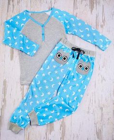 Girls Owl Pajama's 2 Pc Set Sleepwear Sizes 5/6 7/8 10/12 and 14/16  #Unbranded #PajamaSet