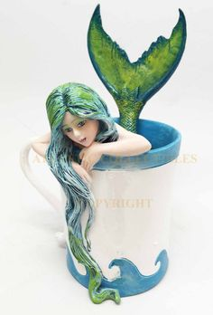Amy Brown Ocean Spirit Morning Bliss Pretty Mermaid Sculpture Figurine Statue