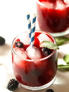 Blackberry Sage Lemonade Sparklers by Deliciously Yum!