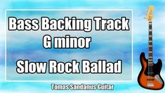 Bass Backing Track G minor - Gm - Sad Slow Rock Ballad - NO BASS Jam Bac... G Minor, Backing Tracks, Bass, Guitar, Rock, Youtube, Skirt, Locks, The Rock