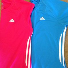 TWO Adidas Shirts One is Berry and one a deep Sky Blue100% PolyesterVery good condition Adidas Tops