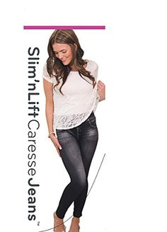 Love your body again. #Slim N #Lift Caresse Jeans look great on any body type including tall or small petite or plus sizes. Combines the style of designer jeans w...