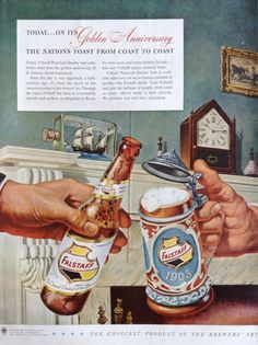 Awesome 50th Anniversary Ad For Falstaff Beer by TheVintageEmpress, $6.00