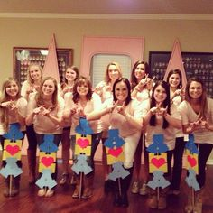 The new members at Texas State's Delta Psi Chapter of Alpha Xi Delta!