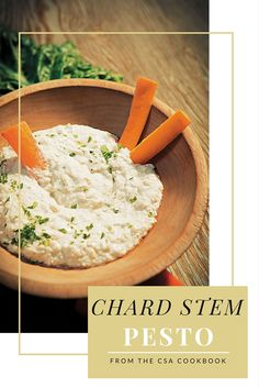 Use your chard stems for the power of good! Make this Chard Stalk Hummus from The CSA Cookbook, it's easy, vegan and delicious.