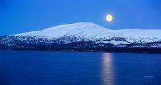 Moonlit night in Alaska
