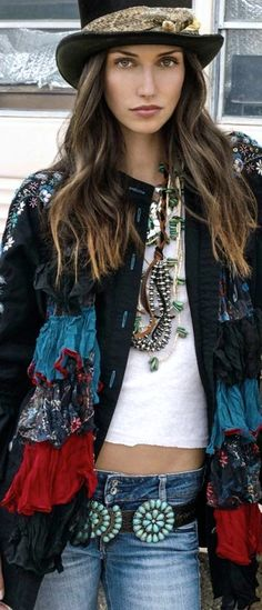 Such a great look - gypsy boho chic ☮