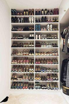 Shoe Storage Trendy walk in closet diy small shoe racks ideas The History And Evolution Shoe Storage Design, Ikea Shoe Storage, Ikea Closet Organizer, Closet Organization, Ikea Organisation, Diy Storage, Smart Storage, Organizing, Shoe Storage On Wall