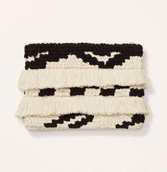 Fringe Pouch #fringe #pouch #white #black #fashion #boho