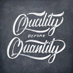 En amistad y en todos los aspectos de la vida... Quality before Quantity!!