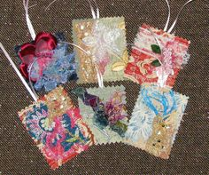 Shabby Chic Fabric Gift Tags  Set of Six  by IckyChicDesigns