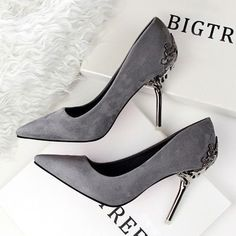 cb9f362e9c0b best selling grey pumps bridal wedding shoes for wedding stiletto high heels  for prom party evening