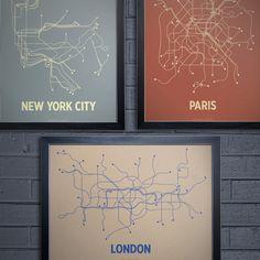Fab.com | NYC London Paris Print Set