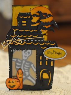 Cute card from Cheryl using HALLOWEEN SVG COLLECTION and SPOOKY SILHOUETTE'S SVG COLLECTION!