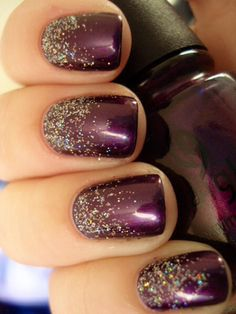 Pretty Nail Colour for Fall/Winter... Love the reverse ombre as well