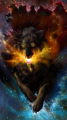 Fenris, the wolf god of Viking mythology is the bringer of Ragnarök, the end of the world. Discover the story of this giant wolf. Mystical Animals, Mythical Creatures Art, Wolf Images, Wolf Pictures, Anime Wolf, Cartoon Christmas Tree, Wolf Warriors, Wolf Wallpaper, Tree Wallpaper