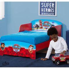 Toddler Bed Frame With Rails Wood Bedroom Furniture Kids Beds For Boy Paw Patrol Disney Toddler Kids Bed Toddler Bed Frame Kids Beds For Boys
