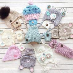 WEBSTA @ lesyaka_ya - Набор выполнен на заказ, не продаётся #pompon#knittedhats#doll#кукла#наборыдлякукол#шапочкидлякукол#хендмейд#аксессуарыдлякукол#интерьернаякукла#тильда#