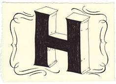 Day 8 • H • Handwritten Letters