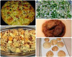 Menú con cinco recetas