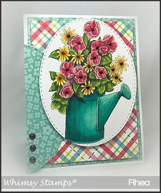 Whimsy - Flower Pail | Passionate Paper Creations Layout Template, Templates, Whimsy Stamps, Copics, Sketches, Passion, Diy Crafts, Crafty, Paper