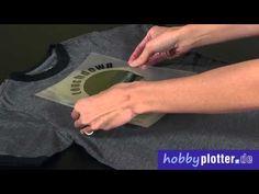 ▶ Textilien mit Thermotransfer selbst beschriften, und mit dem Hobbyplotter schneiden - YouTube