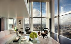 A splendid 6,000sq ft penthouse at the top of The Heron, a 36-storey black-glass tower in the London's  cultural quarter