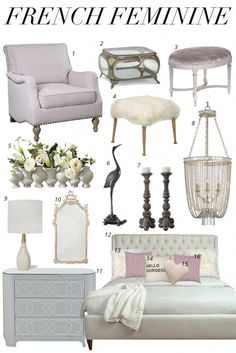 modern french country decor are offered on our website. look at this and you will not be sorry you did. French Country Bedrooms, French Country House, French Country Decorating, French Provincial Decorating, French Country Furniture, French Style Decor, Modern French Decor, Feminine Decor, Home Decor Bedroom