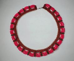Free pattern for beaded necklace Valentine | Beads Magic