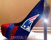 NEW ENGLAND PATRIOTS Football high heel stiletto shoes Custom Made All Teams N Sizes