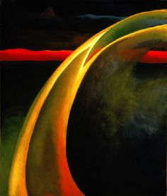 Red & Orange Streak, Georgia O'Keeffe, 1919  Oil on Canvas